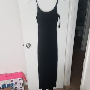 ROBERTA Navy Velvet Prom Dress